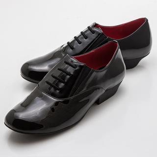 本番用ピアノシューズ 男女兼用モデル 子供用(ブラック・エナメル)(21.0〜22.0cm)