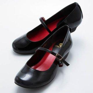 ローヒール(ブラック・エナメル)婦人用(22.5〜26.0cm)