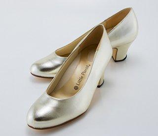 ヒール高5cm(ゴールド)婦人用(22.0〜25.0cm)
