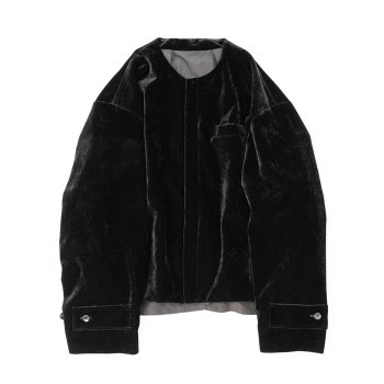 <img class='new_mark_img1' src='https://img.shop-pro.jp/img/new/icons14.gif' style='border:none;display:inline;margin:0px;padding:0px;width:auto;' />stein/ NO COLLAR VELVET JACKET