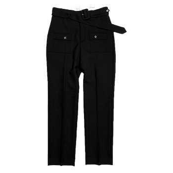 <img class='new_mark_img1' src='https://img.shop-pro.jp/img/new/icons14.gif' style='border:none;display:inline;margin:0px;padding:0px;width:auto;' />DAIRIKU/ Bush Detail Wool Slacks with Velt