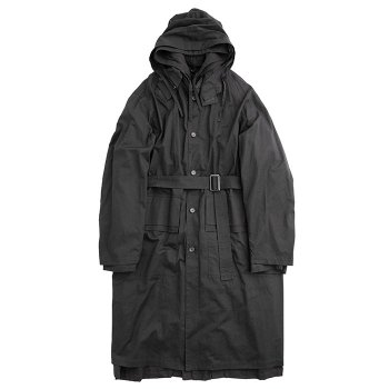 <img class='new_mark_img1' src='https://img.shop-pro.jp/img/new/icons14.gif' style='border:none;display:inline;margin:0px;padding:0px;width:auto;' />stein/  OVERSIZED LAYERED HOODED COAT