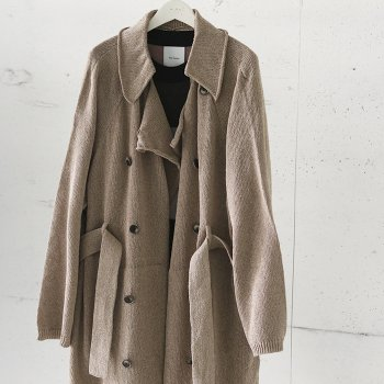 <img class='new_mark_img1' src='https://img.shop-pro.jp/img/new/icons14.gif' style='border:none;display:inline;margin:0px;padding:0px;width:auto;' />Kota Gushiken/ Knitted Washi Trench Coat