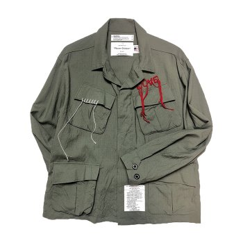 <img class='new_mark_img1' src='https://img.shop-pro.jp/img/new/icons14.gif' style='border:none;display:inline;margin:0px;padding:0px;width:auto;' />DAIRIKU/ Wool Ripstop Fatigue Jacket
