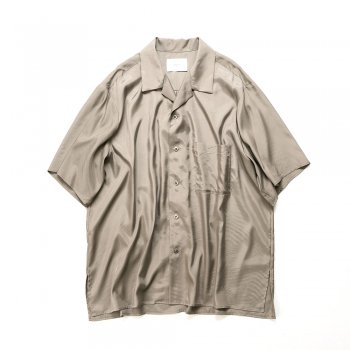 <img class='new_mark_img1' src='https://img.shop-pro.jp/img/new/icons14.gif' style='border:none;display:inline;margin:0px;padding:0px;width:auto;' />stein/  CUPRO OPEN COLLAR SS SHIRT