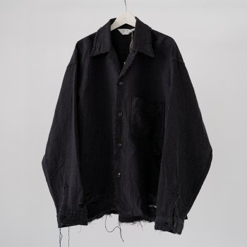 <img class='new_mark_img1' src='https://img.shop-pro.jp/img/new/icons14.gif' style='border:none;display:inline;margin:0px;padding:0px;width:auto;' />ANCELLM / CLASH L/W OPEN COLLAR SHIRT