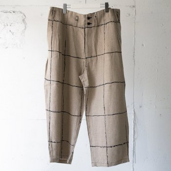 <img class='new_mark_img1' src='https://img.shop-pro.jp/img/new/icons14.gif' style='border:none;display:inline;margin:0px;padding:0px;width:auto;' />ANCELLM / DRAWING CHECK LINEN WIDE PANTS