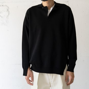 <img class='new_mark_img1' src='https://img.shop-pro.jp/img/new/icons14.gif' style='border:none;display:inline;margin:0px;padding:0px;width:auto;' />saby / MILAN RIB OPEN COLLAR KNIT -16G Compact Yarn-