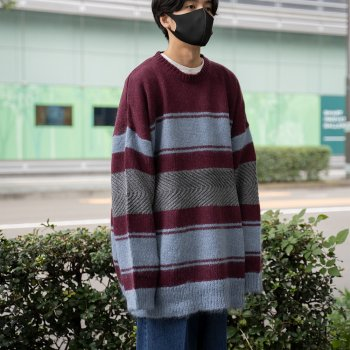 <img class='new_mark_img1' src='https://img.shop-pro.jp/img/new/icons14.gif' style='border:none;display:inline;margin:0px;padding:0px;width:auto;' />DAIRIKU/ Molly Border Mohair Knit