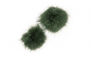 RACCOON FUR PARTS<br>GREENの商品画像