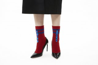LINED BIJOUX SOCKS<br>REDの商品画像