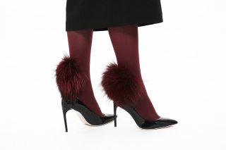 RACCOON FUR TIGHTS<br>BORDEAUXの商品画像