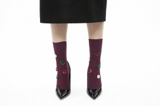 COLOR BIJOUX SOCKS<br>PURPLEの商品画像