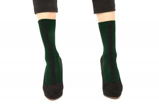 30D LINED SOCKS<br>GREEN×BLACKの商品画像