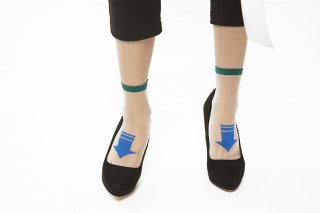 SEE-THROUGH<br>ARROW SOCKS<br>GREEN×BLUE<img class='new_mark_img2' src='https://img.shop-pro.jp/img/new/icons20.gif' style='border:none;display:inline;margin:0px;padding:0px;width:auto;' />の商品画像