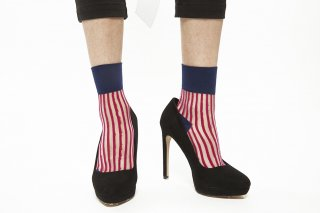 STRIPED SEE-THROUGH SOCKS<br> PINK×NAVY<img class='new_mark_img2' src='https://img.shop-pro.jp/img/new/icons20.gif' style='border:none;display:inline;margin:0px;padding:0px;width:auto;' />の商品画像