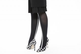 ASIMETRIC<br>LINED TIGHTS<br>BLACKの商品画像