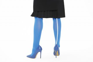 ASIMETRIC<br>LINED TIGHTS<br>BLUEの商品画像
