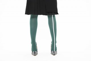 ASIMETRIC<br>LINED TIGHTS<br>GREENの商品画像