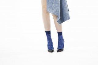 GLITTER FRINGE SOCKS<br>BLUEの商品画像