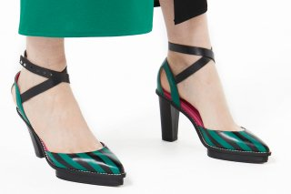 【FLEI】STRIPED SANDAL<br>GREENの商品画像