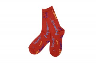 LADIES/ExpenW PATTERN SOCKS<br>RED×MULTIの商品画像