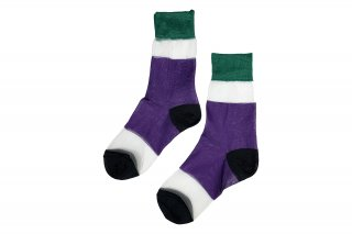 <b><font color='red'>NEW</font></b><br>SEE-THROUGH COLOR BLOCK SC<br>GREEN×PURPLE×BLACKの商品画像