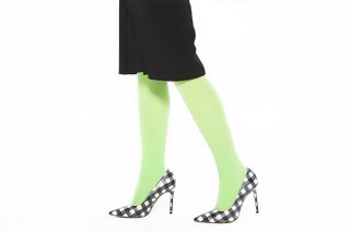 <b><font color='red'>NEW</font></b><br>SLIM FIT RIBBED TIGHTS<br>NEONGREENの商品画像