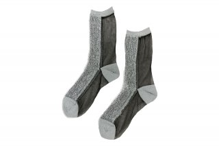 <b><font color='red'>NEW</font></b><br>LIMI feu×FAKUI SEE-THROUGH GLITTER SOCKS<br>SILVERの商品画像