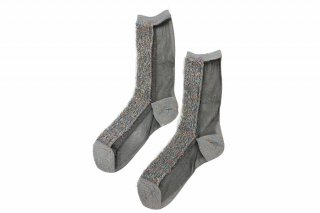 <b><font color='red'>NEW</font></b><br>LIMI feu×FAKUI SEE-THROUGH GLITTER SOCKS<br>MULTIの商品画像