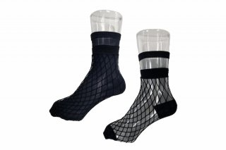 <b><font color='red'>NEW</font></b><br>LIMI feu×FAKUI SEE-THROUGH LAYERED SOCKS<br>BLACKの商品画像