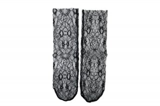 <b><font color='red'>RESTOCK</font></b><br>LACE SHEER SOCKS<br>BLACKの商品画像