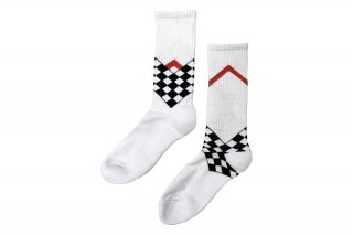 <b><font color='red'>NEW</font></b><br>UNISEX/CHECKER FRAG SPORTS SOCKS<br>WHITEの商品画像