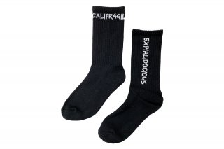 <b><font color='red'>NEW</font></b><br>ASYMMETRIC LOGO SOCKS<br>BLACKの商品画像