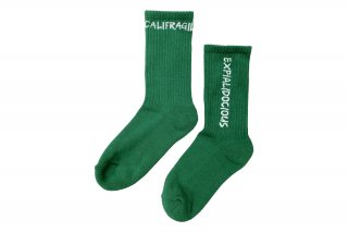 <b><font color='red'>NEW</font></b><br>ASYMMETRIC LOGO SOCKS<br>GREENの商品画像
