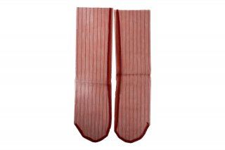<b><font color='red'>NEW</font></b><br>STRIPED TULLE SOCKS<br>REDの商品画像