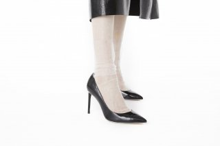 <b><font color='red'>NEW</font></b><br>STRIPED TULLE SOCKS<br>WHITEの商品画像