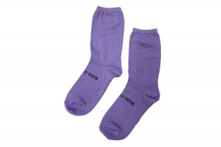 <b><font color='red'>NEW</font></b><br>JACQUARD MESSAGE SOCKS<br>PURPLEの商品画像