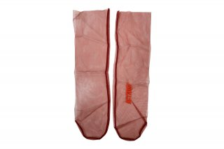 <b><font color='red'>NEW</font></b><br>EMBROIDERY TULLE SOCKS<br>REDの商品画像
