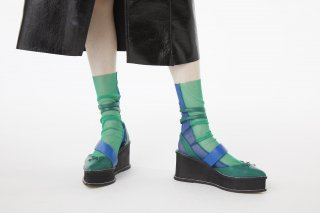 <b><font color='red'>RESTOCK</font></b><br>2TONE SHEER SOCKS<br>GREEN×BLUEの商品画像