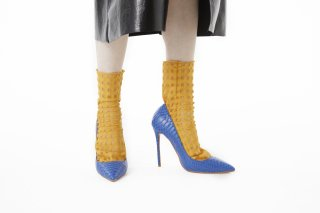 <b><font color='red'>RESTOCK</font></b><br>GINGHAM TULLE SOCKS<br>YELLOWの商品画像