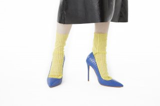 <b><font color='red'>RESTOCK</font></b><br>STRIPED TULLE SOCKS<br>YELLOWの商品画像