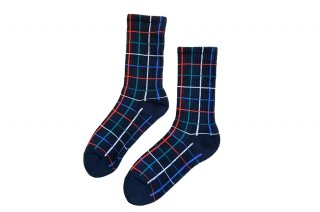 <b><font color='red'>NEW</font></b><br>UNISEX/CHECK SPORTS SOCKS<br>BLACKの商品画像