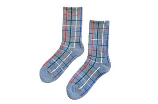 <b><font color='red'>NEW</font></b><br>UNISEX/CHECK SPORTS SOCKS<br>GRAYの商品画像