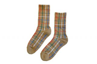 <b><font color='red'>NEW</font></b><br>UNISEX/CHECK SPORTS SOCKS<br>CAMELの商品画像