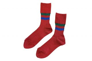 <b><font color='red'>NEW</font></b><br>GLITTER LINED SOCKS<br>REDの商品画像