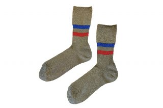 <b><font color='red'>NEW</font></b><br>GLITTER LINED SOCKS<br>GOLDの商品画像