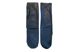 <b><font color='red'>NEW</font></b><br>FAUX LEATHER MESH  SOCKS<br>BLACKの商品画像