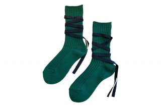 <img class='new_mark_img1' src='https://img.shop-pro.jp/img/new/icons5.gif' style='border:none;display:inline;margin:0px;padding:0px;width:auto;' />RIBBON LACEUP SOCKS<br>GREENの商品画像