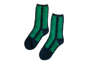 <img class='new_mark_img1' src='https://img.shop-pro.jp/img/new/icons5.gif' style='border:none;display:inline;margin:0px;padding:0px;width:auto;' />WOOL STRIPED SOCKS<br>GREENの商品画像